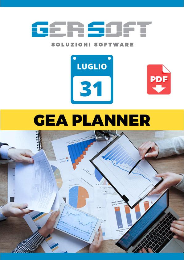 Scarica la brochure PDF del software Gea Planner