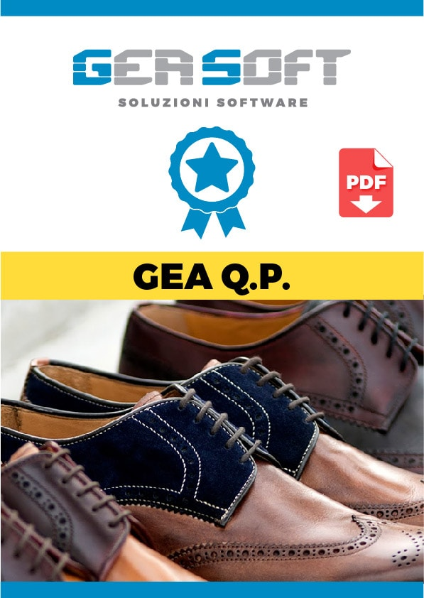 La brochure del software Gea Quality Production